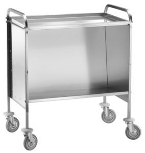 CP1441C  Dish trolley Capacity 200 stacked plates Upper shelf