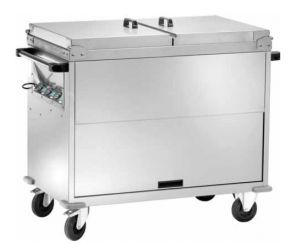 CT1765TD Carrello bagnomaria inox armadiato coperchi 2x1/1GN Temperatura differenz