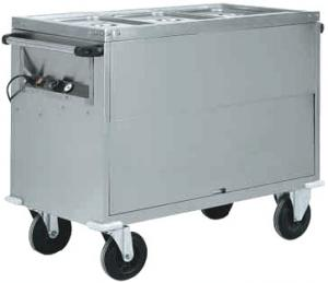 CT1771 Bain-marie trolley Cabinet AISI 304 stainless steel 3x1/1GN 130x68x92h