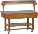 ELN2835 Espositore in legno neutro su ruote per buffet