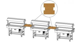 MLUNW Square Wengé wooden shelf 68x70