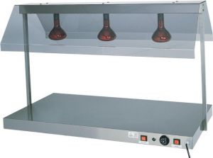 PCI4711 Stainless steel warming surface with 1 infrared lamp 45x64x80h