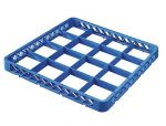 TRIA49 Elevation with 16 compartments for dishwasher racks 50x50 h4,5 blue