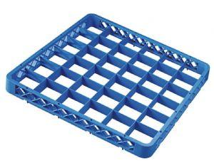 RIA36 Rialzo 36 scomparti per cestello lavastoviglie 50x50 h4,5 blu