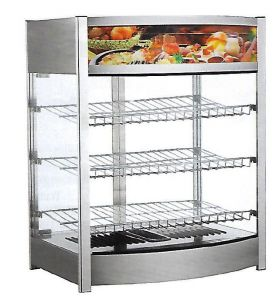 TRTR137L Stainless steel Countertop warming display 3 shelves +30 + 90°C 137L