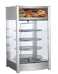 RTR97L2  Warming display 4 round shelves rotating +30 + 90°C