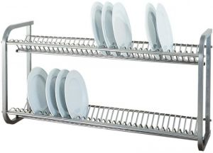 SP1397  Stainless steel Wall mounted dish drying rack 104x30x55h
