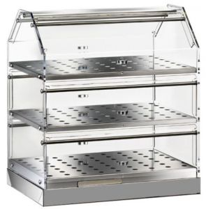 VBN4753 Neutral display-case 3 shelves 50x35x50h