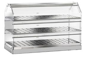 VBN4783 Neutral display-case 3 shelves 85x35x50h
