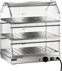VBR4753 Warmed display case Stainless steel 3 shelves 50x35x54h