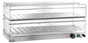 VBR4756 Vetrinetta riscaldata 2 piani acciaio inox 50x35x25h