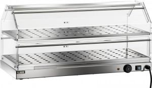 VBR4782 Warmed display case Stainless steel 2 shelves 85x35x40h