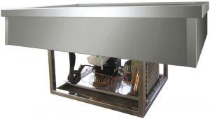 VRI311F Vasca acciaio inox refrigerata (-5º +5°C) da incasso 3x1/1GN 110x68x54,5h