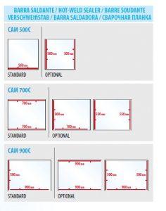 CAM500C-700C-900C Barra saldante aggiuntiva per modelli CAM500C-700C-900C
