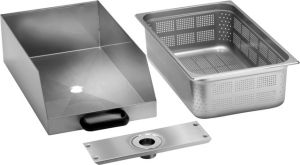 CCF Drawer with stainless steel filter for potato peeler / polisher PPF-LCF