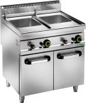 CPM30DM Gas pasta cooker with cabinet 25+25 liters double basin