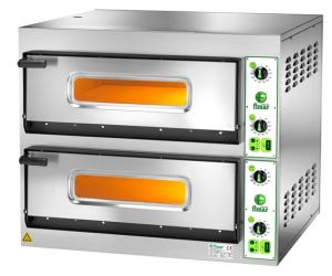 FES44T Electric pizza oven 8.4 kW double room 66x66x14h - Three Phase