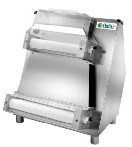 FIP42N Pizza rolling machine with double pair of parallel rollerls 42 cm