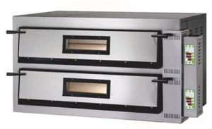 FMD66T  Electric oven pizza digital 18kW 2 rooms 72x108x14h cm - Three Phase