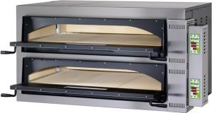 FMDW66M Electric oven pizza digital 18kW double room 108x72x14h cm - Single phase