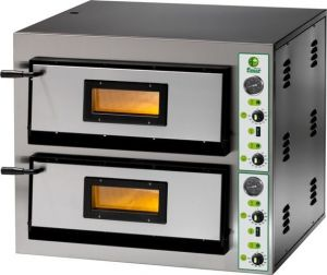 FME44T Electric pizza oven 8.4 kW double room 61x61x14h - Three-phase