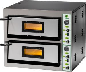FML66T  Electric pizza oven 18 kW double room 72x108x14h cm - Three Phase