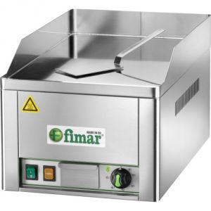 FRY1LC Electric Fry top single smooth chromed steel surface 3000W single phase