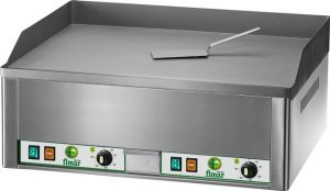 FRY2L Electric three-phase countertop griddle 6000W double plane smooth steel