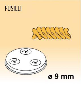 MPFTFU15 Trafila FUSILLI per macchina per pasta fresca