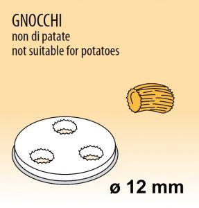 MPFTGN15 Trafila GNOCCHI NON DI PATATE per macchina per pasta fresca