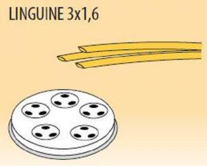 MPFTL3X16-4 Trafila LINGUINE 3x1,6 per macchina per pasta fresca