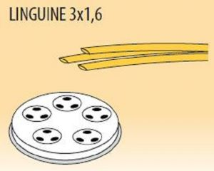 MPFTL3X16-8 Brass bronze alloy nozzles  LINGUINE 3x1,6 for pasta machine