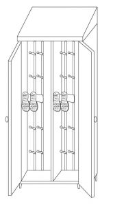 IN-696.04 Cupboards with two doors - dim. 95x50x215 H