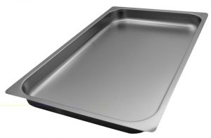 FNC1/1P040 Gastronorm 1 / 1 h40 AISI 304 stainless steel flat edge