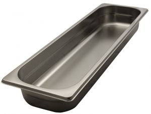 GST2/4P040 Contenitore Gastronorm 2/4 h40 in acciaio inox AISI 304