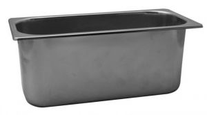 VG422025 Ice cream tray in stainless steel 420x200x h250 mm