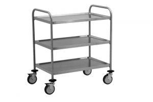 TEC1109 Technical AISI 304 stainless steel Cart 3 shelves