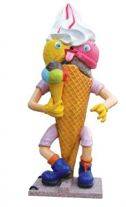 SG008 Gelato Goloso cono pubblicitario 3D per gelateria altezza 215 cm