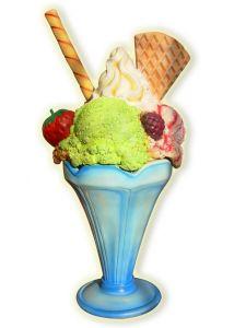 SG017 Fiberglass ice cream cup height 205 cm