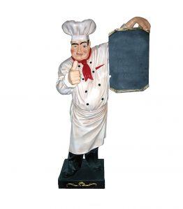 SR002 Cook in fiberglass with black-board high 180 cm