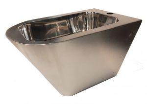 """LX3512 Bidet Professionale sospeso """"GQ"""" finitura satinato -  in acciaio inox Aisi 304"""