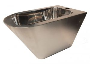 """LX3518 Professional suspended bidet """"GQ"""" glossy finish - in AISI 304 stainless steel"""