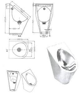 """LX3600 Orinatoio Professionale carenato """"GQ""""  - lucido"""