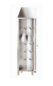 IN-696.03 Armadio Portastivali in acciaio inox Aisi 304 - dim. 50x50x215 H