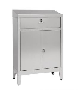 IN-699.02C Cabinet desk with 2 doors with drawer - dim. 80x40x115H