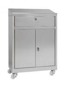 IN-699.04C Cabinet desk with 2-door cabinet with steel drawer - dim. 80x40x115 H
