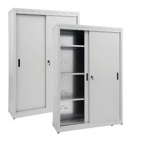 IN-Z.690.14.60 Storage Cabinet with Sliding Doors zinc coated 140x60x180 H