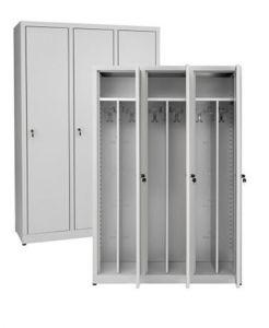 IN-Z.694.00 Dressing cabinet 3 Doors plasticized zinc - Dim. 120x40x180 H