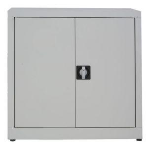 IN-Z.694.05.50 Low 2 door plastic storage cabinet with zinc-coated doors  80x50x80 H