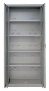 IN-Z.694.09 - 2 door plastic laminated storage cupboard - 100x40x180 H